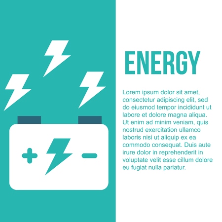 accumulator battery energy power and electricity vector illustration Stock Illustratie