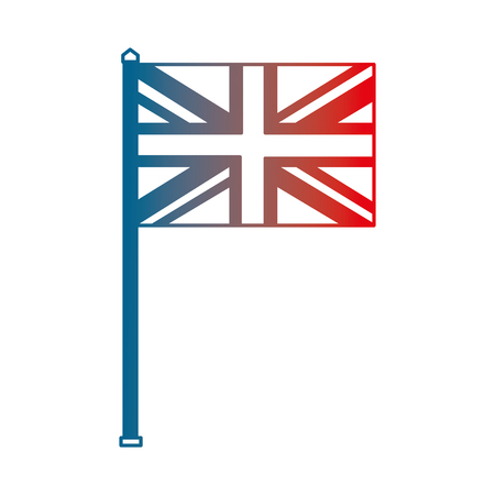 united kingdom flag in pole national symbol vector illustration gradient design
