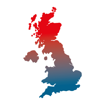 united kingdom map geography location vector illustration gradient design