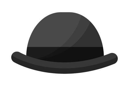 english bowler hat elegant accessory vector illustration Ilustração