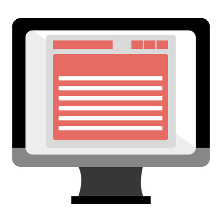 monitor computer with template vector illustration design