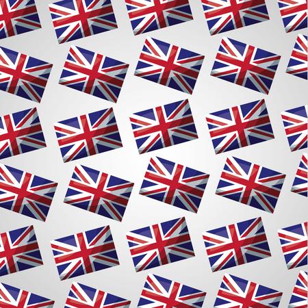 united kingdom country british flag backgorund vector illustration Çizim