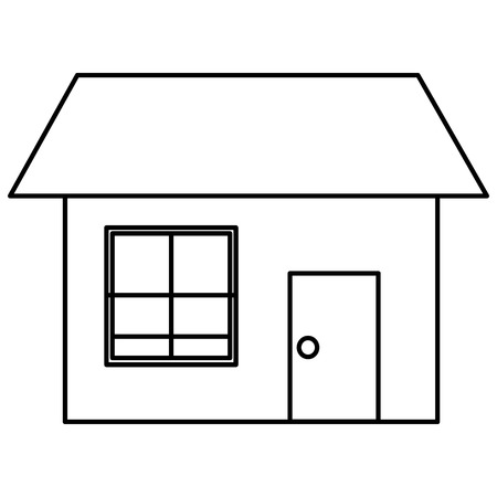 exterior house isolated icon vector illustration design 版權商用圖片 - 114962224