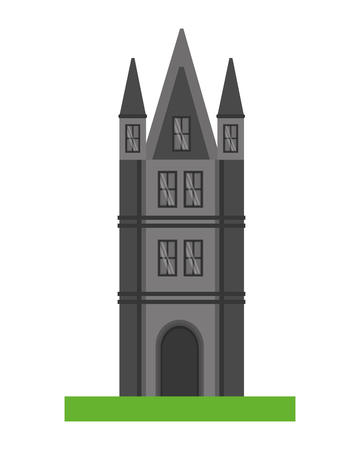 ancient tower architecture antique tower vector illustration