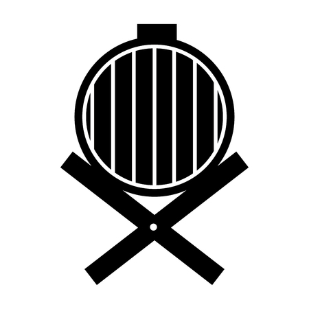 wine barrel isolated icon vector illustration design Illustration