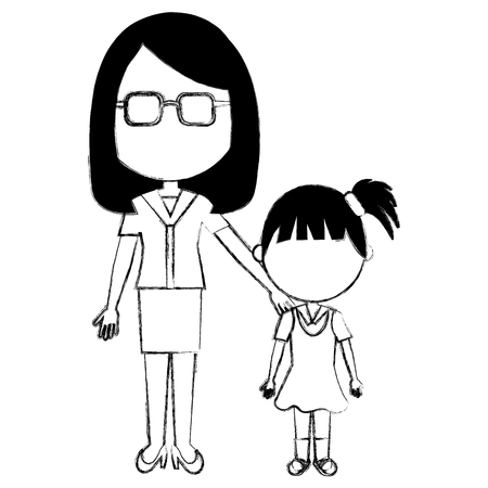 12098 Teacher Student Cartoon Cliparts Stock Vector And Royalty