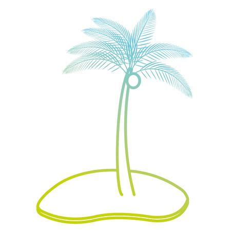 tree palms on the beach vector illustration design
