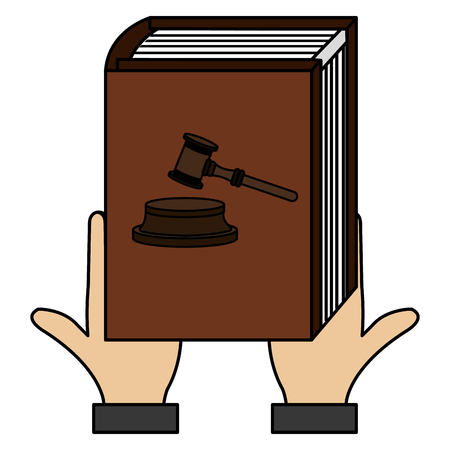 hands lifting justice book vector illustration design Illustration