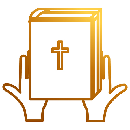 hands with holy bible vector illustration design Ilustrace