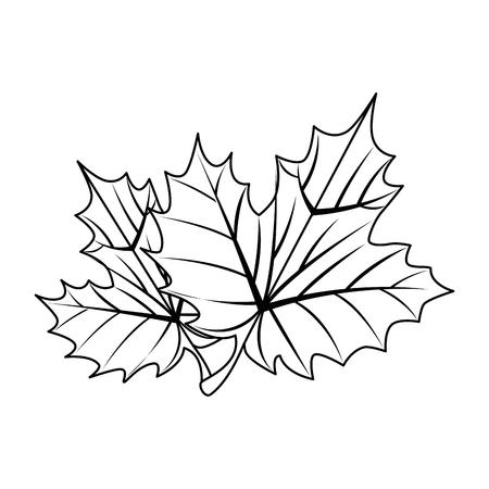 Hojas de uva, diseño de ilustraciones vectoriales icono aislado