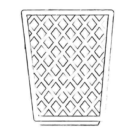 Bac à papier de bureau conception d'illustration vectorielle icône Vecteurs