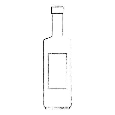 wine bottle silhouette icon vector illustration design Stockfoto - 104891487