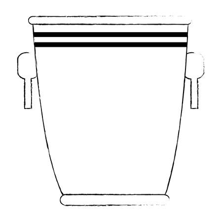 Cubo de licor silueta icono diseño ilustración vectorial