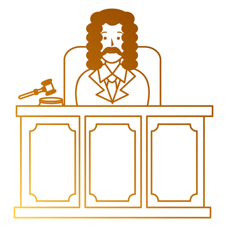 justice judge on stage character vector illustration design Ilustrace