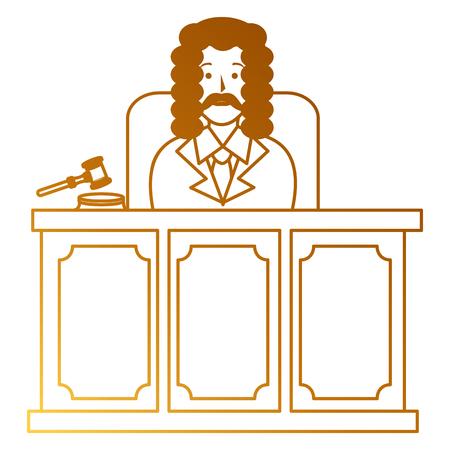 justice judge on stage character vector illustration design Illustration