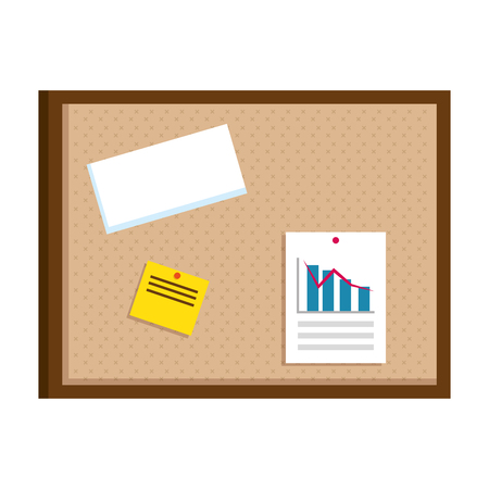 office notice board icon vector illustration design