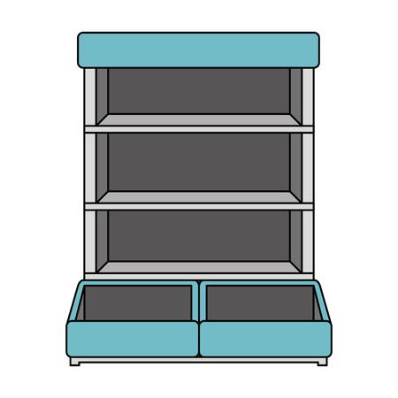 supermarket shelving empty icon vector illustration design