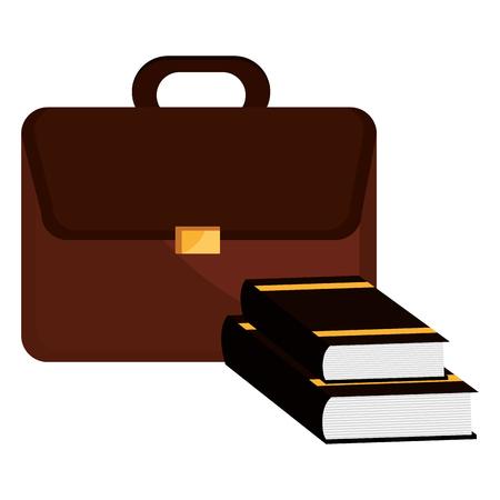 justice books with portfolio vector illustration design