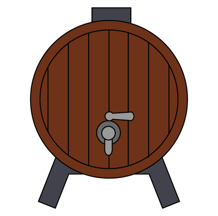 wine barrel isolated icon vector illustration design 向量圖像