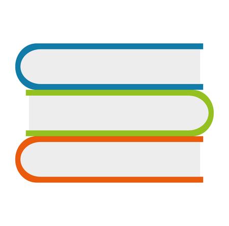 Pile de livres de texte dans la conception d'illustration vectorielle de boîte en carton Vecteurs