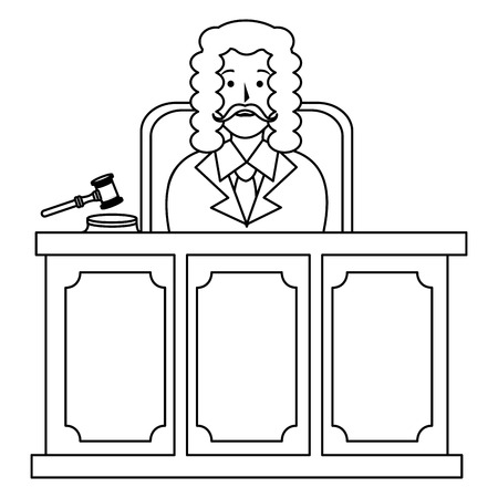 justice judge on stage character vector illustration design Stock Vector - 114889595