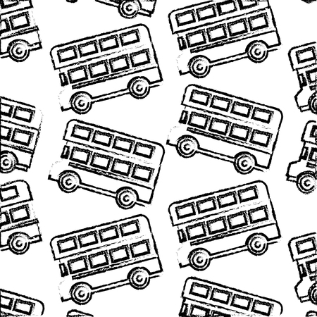london double decker bus transport background vector illustration