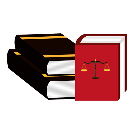 pile justice books icon vector illustration design Ilustrace