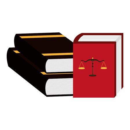 pile justice books icon vector illustration design Illustration