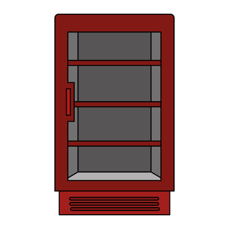 supermarket refrigerator empty icon vector illustration design