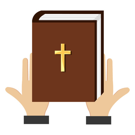 hands with holy bible vector illustration design Ilustração