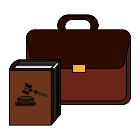 justice book with portfolio vector illustration design