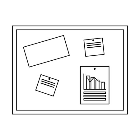 office notice board icon vector illustration design