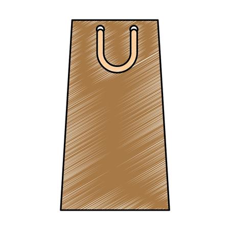shopping paper bag icon vector illustration design Stock Vector - 104878149