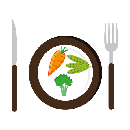 dish with vegetables healthy food vector illustration design Standard-Bild - 104895875