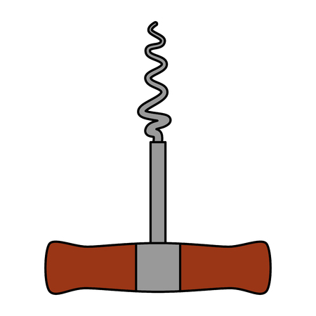 corkscrew tool isolated icon vector illustration design Illustration