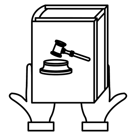 hands lifting justice book vector illustration design Stock Illustratie