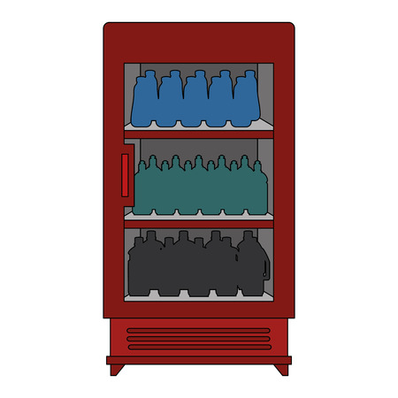 supermarket refrigerator with products vector illustration design