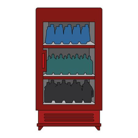supermarket refrigerator with products vector illustration design Çizim