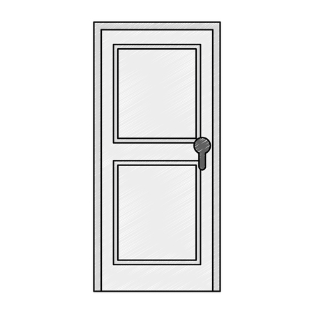 door wooden isolated icon vector illustration design