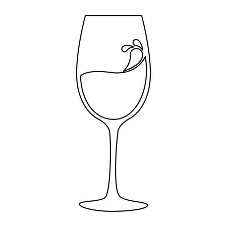 wine cup silhouette icon vector illustration design