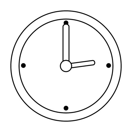 time clock watch ivon vector illustration design Çizim