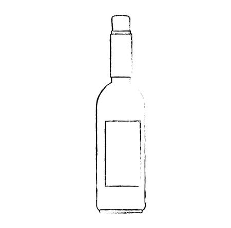 wine bottle silhouette icon vector illustration design 矢量图像