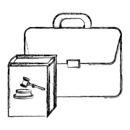 justice book with portfolio vector illustration design