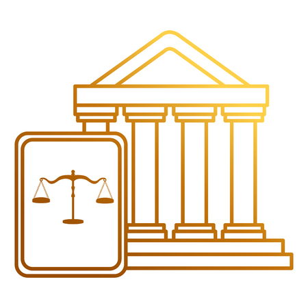 court building with justice book vector illustration design