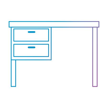 office desk wooden icon vector illustration design