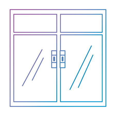 Finestra all'interno icona isolato illustrazione vettoriale design Vettoriali