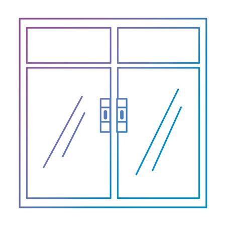 okno wewnątrz izolowanej ikony wektor ilustracja projektu Ilustracje wektorowe