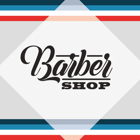baber shop colors background sign figure vector illustration