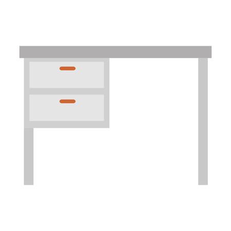 office desk wooden icon vector illustration design Stok Fotoğraf - 114844000