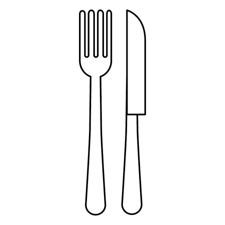 fork and knife cutleries vector illustration design Stock Vector - 114912715